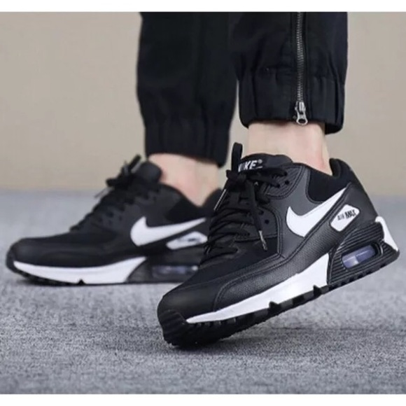 pretty nice 4e298 03aa8 Women s Nike Air Max 90 Black + White Sneakers